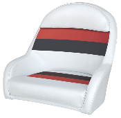 Wise Deluxe Bucket Captain's Chair (White/Red/Charcoal)