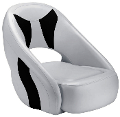 Attwood Avenir Sport Full Upholstered Seat (Grey/Black)