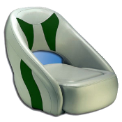 Attwood Avenir Sport Full Upholstered Seat (Grey/Green)