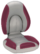 Attwood Centric Fully Upholstered Seat (Grey/Burgundy)