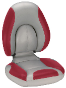 Attwood Centric Fully Upholstered Seat (Grey/Red)