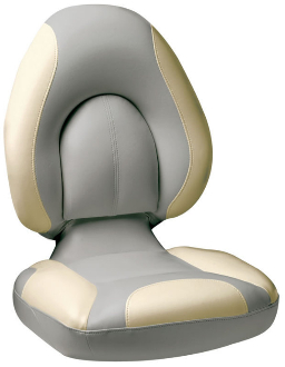 Attwood Centric Fully Upholstered Seat (Grey/Tan)