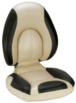 Attwood Centric Fully Upholstered Seat (Tan/Black)