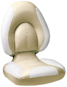 Attwood Centric Fully Upholstered Seat (Tan/Bright-White)