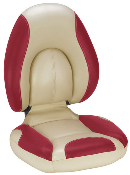 Attwood Centric Fully Upholstered Seat (Tan/Red)