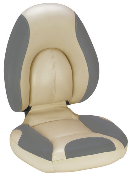 Attwood Centric Fully Upholstered Seat (Tan/Smoke)