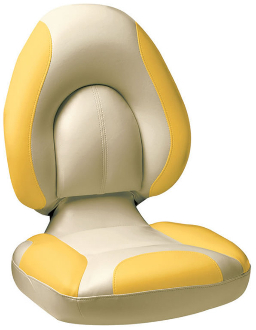 Attwood Centric Fully Upholstered Seat (Tan/Yellow)