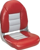 Tempress High-Back Navistyle Boat Seat (Red/Grey)