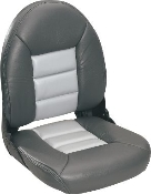 Tempress High-Back Navistyle Boat Seat (Charcoal/Grey)