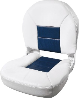 Tempress Profile Deluxe Boat Seats (White/Blue)