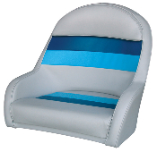 Wise Deluxe Bucket Captain's Chair (Light Grey/Navy/Blue)