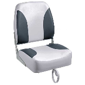 Bass Pro Shops Tournament Pro Hi-Back Boat Seat (Grey/Charcoal)
