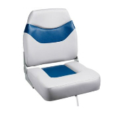 Bass Pro Shops Extreme Hi-Back Boat Seat (Grey/Blue)