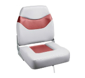 Bass Pro Shops Extreme Hi-Back Boat Seat (Grey/Burgundy)