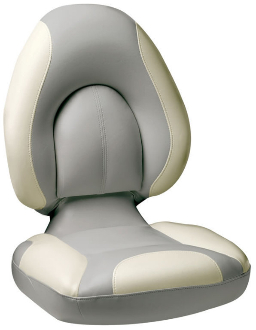Attwood Centric Fully Upholstered Seat (Grey/Off-White)