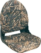 Tempress High-Back Navistyle Boat Seat (Mossy Oak Shadow Grass)