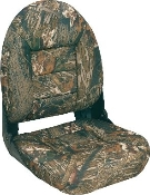 Tempress High-Back Navistyle Boat Seat (Mossy Oak Breakup)