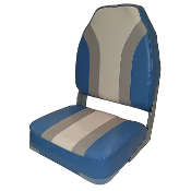 Classic High Back Boat Seat (Light Blue/Gray/Marble)